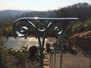 Handrail scroll work