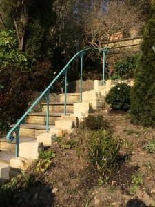 Mild steel garden handrail