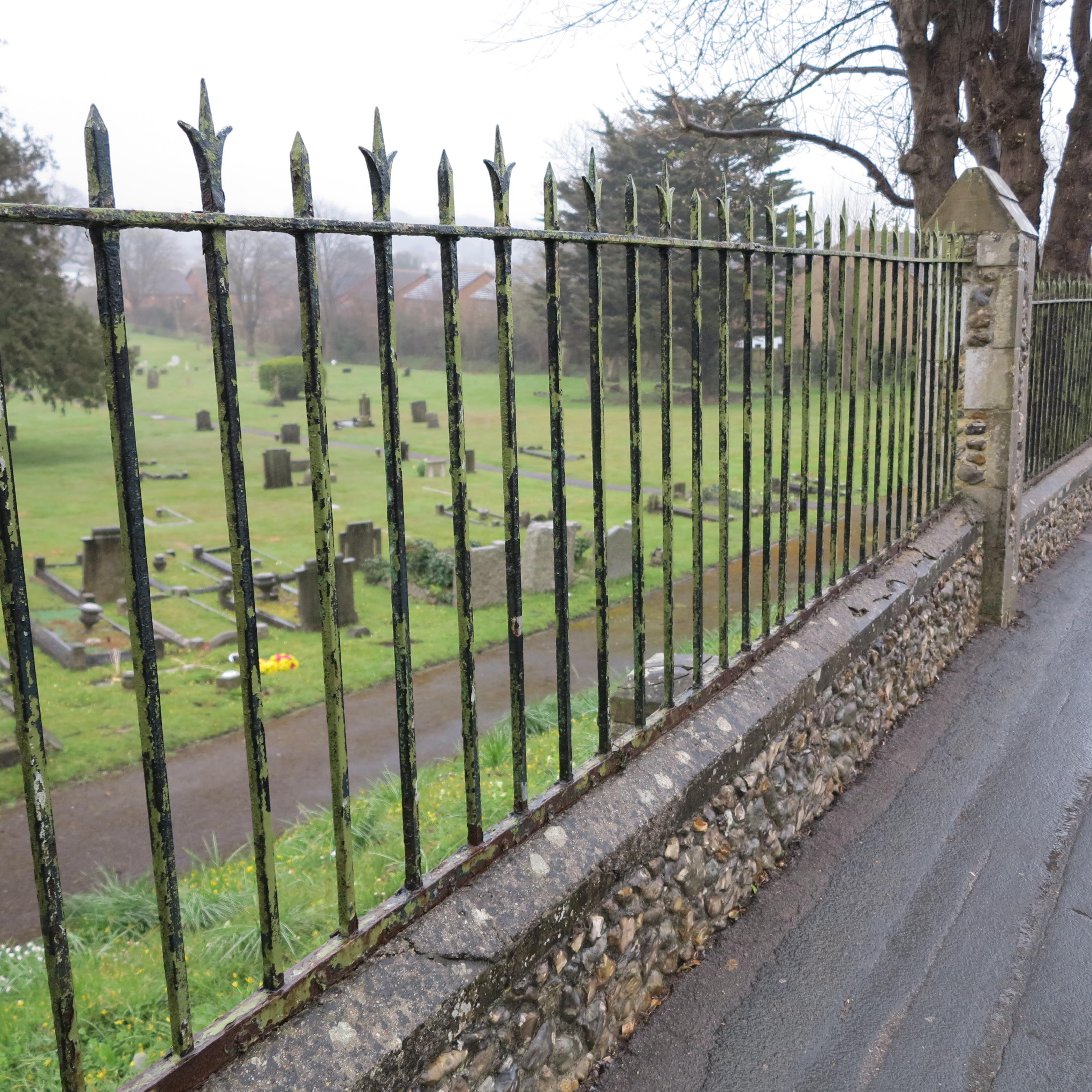 Wickham Road Cemetery Railings Fareham Ironart Of Bath