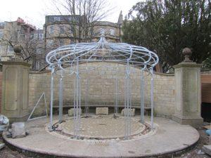Wedding pergola structure in situ