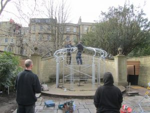 Royal Crescent Hotel, Bath Wedding Pergola installation