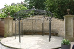 The beautiful Wedding Pergola complete and in situ