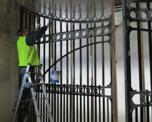 Painting the gates