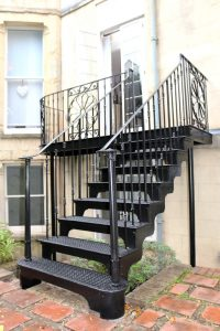 Finished balustrade, landing and staircase