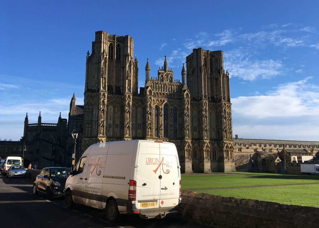 In 2018 we were fortunate enough to be selected to make new handrails for four of the towers at Wells Cathedral.