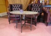 Oval mild steel drinks table, Abbey Hotel, Bath