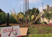 Sun Flower Sculpture on Bathwick Hill