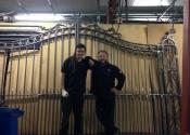 Jason Balchin, James Cuthbertson - Double gates by  Ironart of Bath