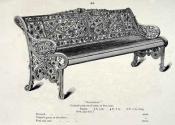 Coalbrookdale Nasturtium bench - original catalogue entry
