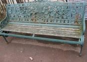 Repairs to a Coalbrookedale Nasturtium three seat bench