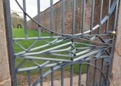 Traditional wrought iron garden gates by Ironart of Bath
