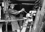 Jim Purry, making the Ironart Flower Arch