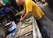 Coalbrookdale bench restoration (1)