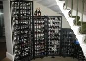 Bespoke wine racks at the Royal Crescent Hotel in Bath