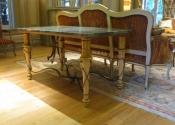 A bespoke decorative sofa table for Private Lives Interior Design