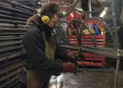 James Cuthbertson making garden benches at Ironart