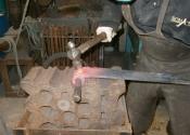 Jason Balchin - making a set of bespoke door hinges at Ironart of Bath
