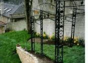 Stepped arch garden pergola