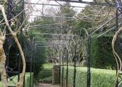 Garden Pergola in winter - Turleigh near Bath