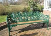 Fully restored Coalbrookdale cast iron bench - Ironart of Bath