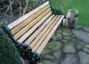 Cast iron bench restoration - Ironart of Bath