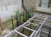 Cast iron balustrade restoration, Camden Crescent, Bath - pictured prior to restoration