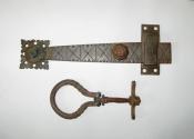 Restoration of an antique door latch