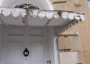 Restoration of three zinc covered door canopies on Georgian Cavendish Crescent in Bath.