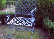 Restoration of an antique folding garden chair