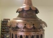 Antique lantern restoration by Ironart of Bath.