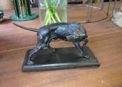 AFTER - Coalbrookdale dog sculpture repair - Ironart of Bath