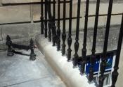 Repairs to cast iron railings, Great Pulteney Street, Bath