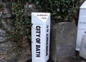 Full restoration of original cast iron waymarkers, by Ironart of Bath