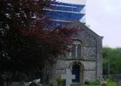 Restoration of the weathevane at Holy Trinity Church, Cleeve, near Bristol