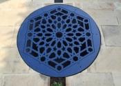 Bespoke decorative well cover by Ironart of Bath