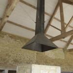 Bespoke metal fire hood for granary