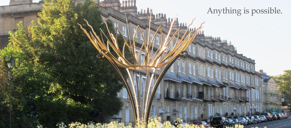 Bathwick Hill Sun flower sculpture