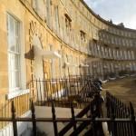 Cavendish Crescent in Bath, restoration of decorative door canopies by Ironart of Bath